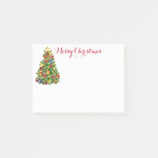 Bloco Post-it Cargo--Notas da árvore de Natal