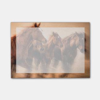 Bloco Post-it Cavalos, borrão e jubas Running do vôo