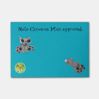 Bloco Post-it Chiwawa segunda-feira aprovou notas do Cargo-it® 4