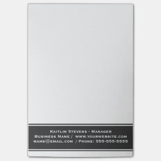 Bloco Post-it Cinzas e branco simples lisos profissionais