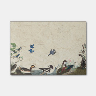 Bloco Post-it Colagem de Audubon de notas de post-it dos animais