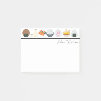 Bloco Post-it Comida e bebida japonesas Emojis