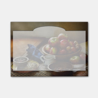Bloco Post-it Comida - fruta - apronte para o pequeno almoço