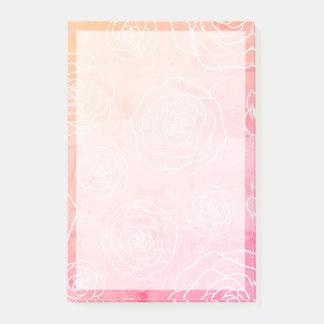 Bloco Post-it Contorno dos rosas
