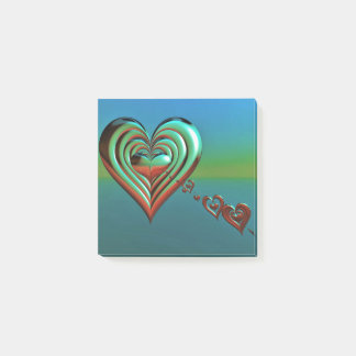 Bloco Post-it Corações muito ao alto