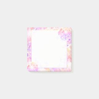 Bloco Post-it Cristal de rocha cor-de-rosa do compasso da