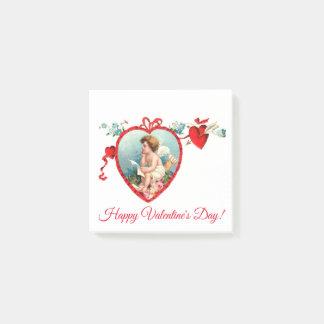 Bloco Post-it Cupido do dia dos namorados do vintage