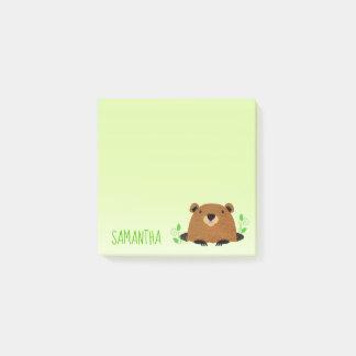 Bloco Post-it Desenho adorável de Groundhog da floresta