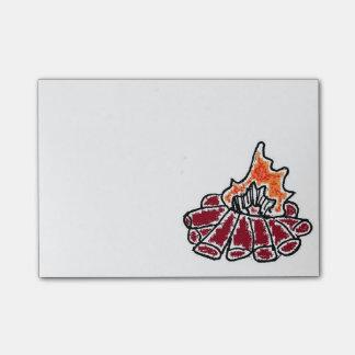 Bloco Post-it Desenhos animados acolhedores da fogueira