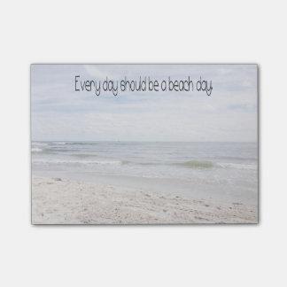 Bloco Post-it Dia da praia