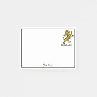 Bloco Post-it Emblema ereto C da crista do leão heráldico