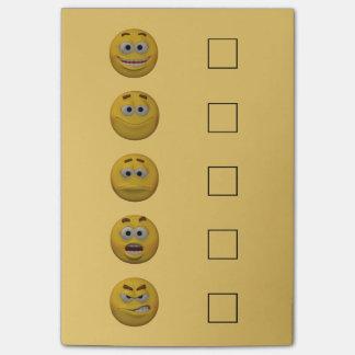 Bloco Post-it Emoticon 2 da verificação do humor do estilo 3d