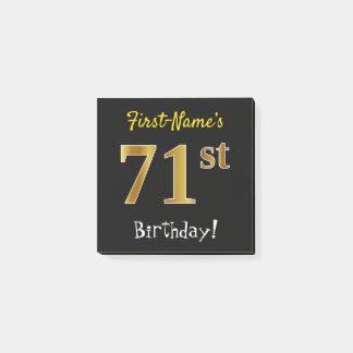 Bloco Post-it Enegreça, aniversário do ouro do falso 71st, com
