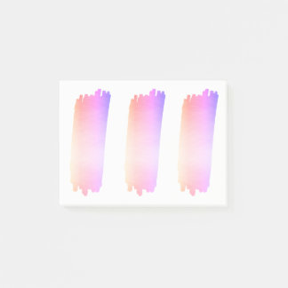 Bloco Post-it Escova cor-de-rosa da aguarela da lavanda do