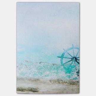 Bloco Post-it Escritório - o mar da aguarela acena 2
