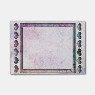 Bloco Post-it Escritório - quadro do coração da arte