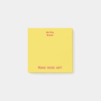 Bloco Post-it Faça mais post-it da arte