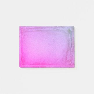 Bloco Post-it Folhas roxas cor-de-rosa da aguarela