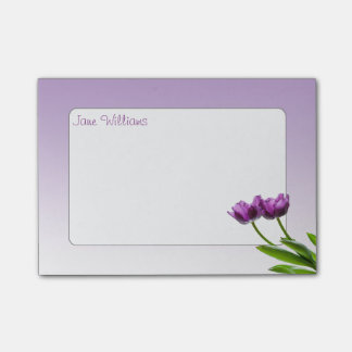 Bloco Post-it Foto isolada floral do primavera gêmeo roxo das