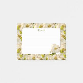Bloco Post-it Fotografia floral da flor do Dogwood do primavera