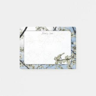 Bloco Post-it Fotografia floral do céu azul do Dogwood do