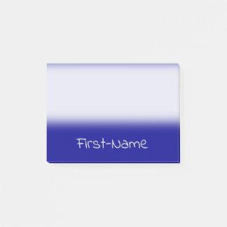 Bloco Post-it Fundo e luz azuis escuro básicos - nome cinzento