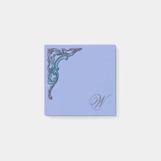 Bloco Post-it Gótico Pastel romântico de Steampunk personalizado