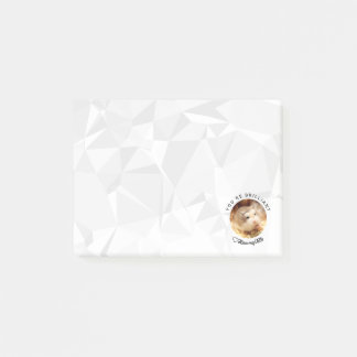 Bloco Post-it HammyVille - hamster bonito com citações