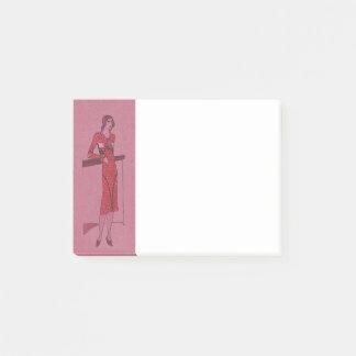 Bloco Post-it Ilustração c1925 do Flapper do Fashionista