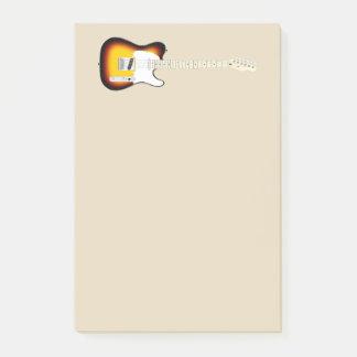 Bloco Post-it Ilustração da guitarra elétrica do vintage