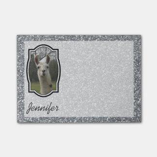 Bloco Post-it Lama brilhante Sparkling de N na prata