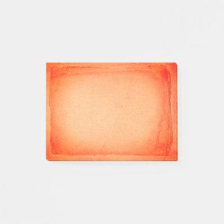 Bloco Post-it Laranja vermelha impressão de tela pintado