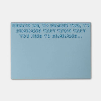 Bloco Post-it Lembre-o notas de