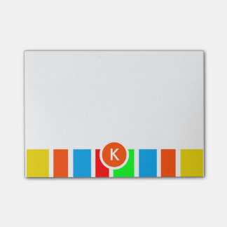 Bloco Post-it Listras coloridas do monograma