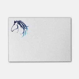 Bloco Post-it Logotipo elegante da cabeça de cavalo nas máscaras