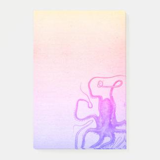 Bloco Post-it Mar roxo cor-de-rosa de Ombre Steampunk do polvo