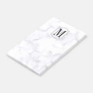 Bloco Post-it Mármore personalizado elegante do monograma