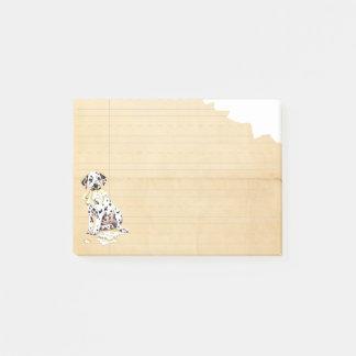 Bloco Post-it Meu Dalmatian comeu meus trabalhos de casa
