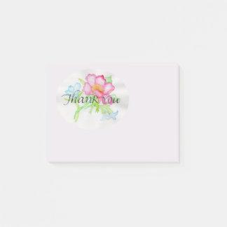 Bloco Post-it Mini buquê floral TY do rosa selvagem cor-de-rosa