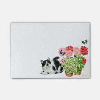 Bloco Post-it Moxie o gato da vaca em notas de post-it das