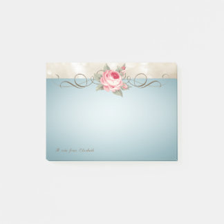 Bloco Post-it Na moda bonito elegante, Romantic.Rose