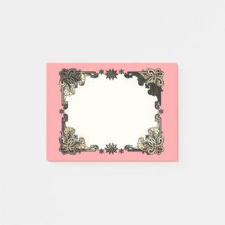 Bloco Post-it Nó celta boémio floral cor-de-rosa de Boho