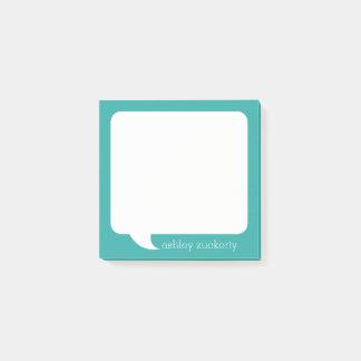 Bloco Post-it Nome personalizado bolha da conversa - PODE a COR