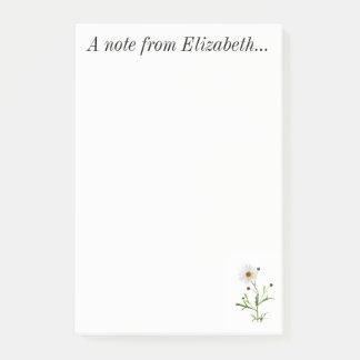 Bloco Post-it Nota de Elizabeth