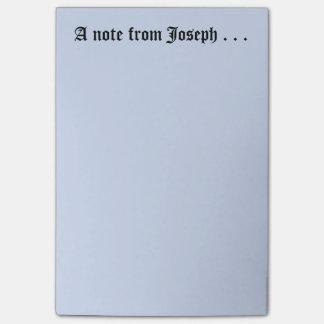 Bloco Post-it Nota de Joseph