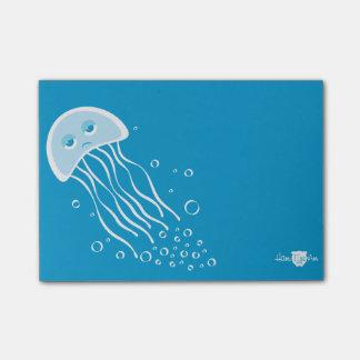 Bloco Post-it Nota de post-it apática das medusa