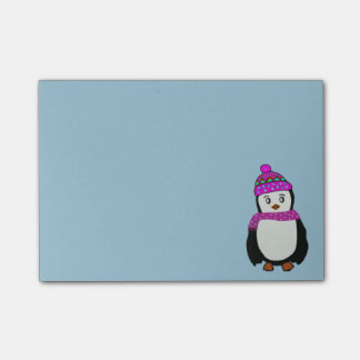 Bloco Post-it Notas bonitos do Cargo-it® do pinguim