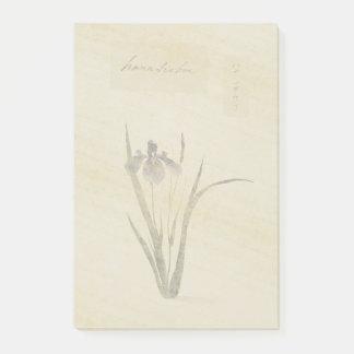 Bloco Post-it Notas de post-it asiáticas botânicas da flor da