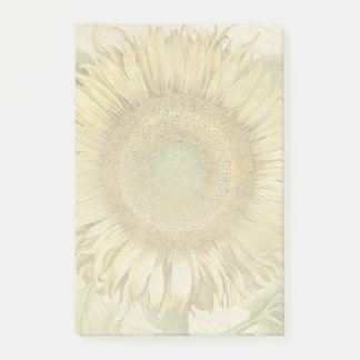 Bloco Post-it Notas de post-it botânicas da flor do girassol do