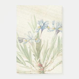 Bloco Post-it Notas de post-it botânicas de Redoute da flor da